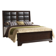 Crown Mark Furniture Jacob Upholstered Queen Bed in Rich Brown
