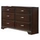 Crown Mark Furniture Jacob Dresser in Rich Brown B6510-1