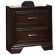 Crown Mark Furniture Jacob Nightstand in Rich Brown B6510-2
