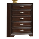Crown Mark Furniture Jacob Drawer Chest in Rich Brown B6510-4