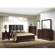 Crown Mark Furniture Jacob Upholstered Bedroom Set in Rich Brown