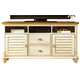 Liberty Ocean Isle Entertainment TV Stand in Bisque with Natural Pine 303-TV00