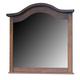 Crown Mark Furniture Sommer Dresser Mirror in Warm Brown B1301-1
