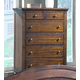 Crown Mark Furniture Sommer Drawer Chest in Warm Brown B1304