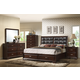 Crown Mark Furniture Jacob Upholstered Storage Bedroom Set in Rich Brown