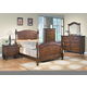 Crown Mark Furniture Sommer Bedroom Set in Warm Brown