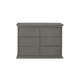 Million Dollar Baby Classic Foothill Drawer Dresser w/ Changer Tray in Manor Grey M3916MG