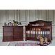 Million Dollar Baby Classic Louis/Foothill Collection 4 in 1 Convertible Crib Set in Espresso M34QSET