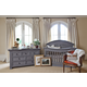 Million Dollar Baby Classic Wakefield Collection 4 in 1 Convertible Crib Set in Washed Grey M77WGSET