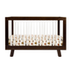 Babyletto Hudson 3-in-1 Convertible Crib with Toddler Rail in Espresso/White M4201QW