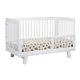 Babyletto Hudson 3-in-1 Convertible Crib with Toddler Rail in White M4201W
