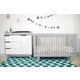 Babyletto Hudson 3-in-1 Convertible Crib Set in Grey