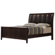 Crown Mark Furniture Rivoli Queen Bed in Dark Chocolate