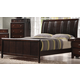Crown Mark Furniture Rivoli King Bed in Dark Chocolate