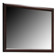 Crown Mark Furniture Rivoli Dresser Mirror in Dark Chocolate B6875-11