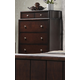 Crown Mark Furniture Rivoli Drawer Chest in Dark Chocolate B6875-4
