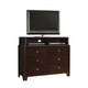 Crown Mark Furniture Rivoli Media Chest in Dark Chocolate B6875-7