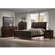 Crown Mark Furniture Rivoli Bedroom Set in Dark Chocolate