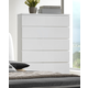 Crown Mark Furniture Avery Drawer Chest in White B4850-4