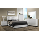 Crown Mark Furniture Avery Upholstered Bedroom Set in White