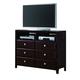 Crown Mark Furniture Claret  Media Chest in Rich Brown B6207