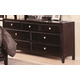 Crown Mark Furniture Claret  Dresser in Rich Brown B6201