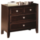 Crown Mark Furniture Claret  Nightstand in Rich Brown B6202