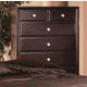 Crown Mark Furniture Claret  Drawer Chest in Rich Brown B6204