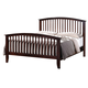 Crown Mark Furniture Lawson Queen Panel Bed in Warm Brown
