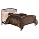 Crown Mark Furniture Lawson King Panel Bed in Warm Brown