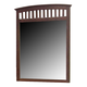 Crown Mark Furniture Lawson  Dresser Mirror in Warm Brown B7551-1