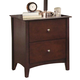 Crown Mark Furniture Lawson Nightstand in Warm Brown B7552
