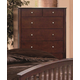 Crown Mark Furniture Lawson Drawer Chest in Warm Brown B7554
