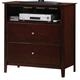 Crown Mark Furniture Lawson Media Chest in Warm Brown B7557