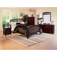 Crown Mark Furniture Lawson Panel Bedroom Set in Warm Brown