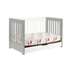 Babyletto Mercer 3-in-1 Convertible Crib with Toddler Rail in Grey/White M6801GW