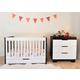 Babyletto Mercer/Modo 3-in-1 Convertible Crib Set in Espresso/White