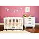 Babyletto Mercer/Modo 3-in-1 Convertible Crib Set in Grey/White