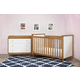 Babyletto Skip 3-in-1 Convertible Crib Set in Chestnut/White