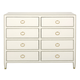 Bernhardt Jet Set Eight Drawer Dresser in White 356-042