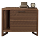 Ligna Tribeca 2 Drawer Nightstand with Magazine Console in Natural Walnut 9312LRNW