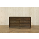 Franklin & Ben Mason Double Wide Dresser in Rustic Brown B5616U