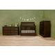 Franklin & Ben Mason 4-in-1 Convertible Crib Set with Toddler Rail in Rustic Brown