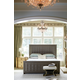 Bernhardt Jet Set Upholstered Panel Bedroom Set in Caviar