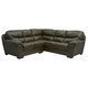 Jackson Lawson 2 Piece Sectional (LSF Loveseat-RSF Section) in Godiva