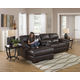 Jackson Lawson 3pc (LSF Chaise-Console w/ Entertainment-RSF Loveseat) Sectional Living Room Set in Godiva