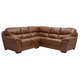 Jackson Lawson 2 Piece Sectional (LSF Loveseat-RSF Section) in Chestnut