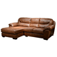Jackson Lawson 2 Piece Sectional (LSF Chaise-RSF Loveseat) in Chestnut