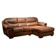 Jackson Lawson 2 Piece Sectional (RSF Chaise-RSF Loveseat) in Chestnut
