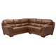 Jackson Lawson 2 Piece Sectional (RSF Loveseat/LSF Section) in Chestnut